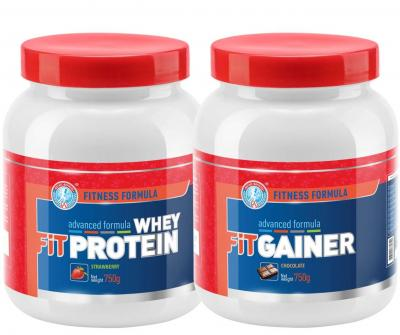 "Набор ""FIT WHEY PROTEIN 750 + FIT GAINER 750"""